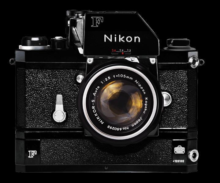 NIKON F w 105mm